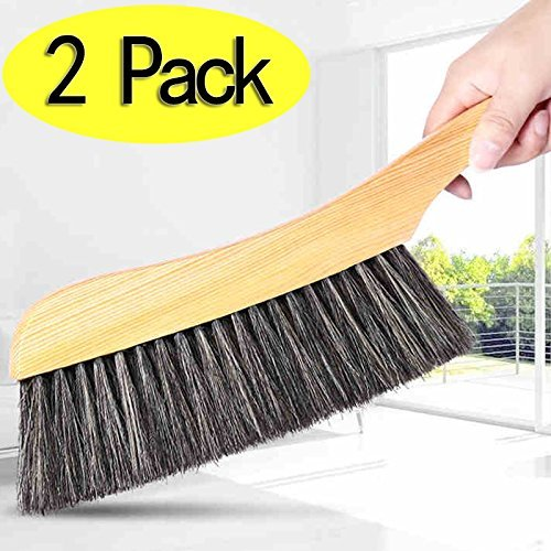 Soft Cleaning Brush -2PCS Wood Handle Hotel Family Clothes Dust Hair Sofa...