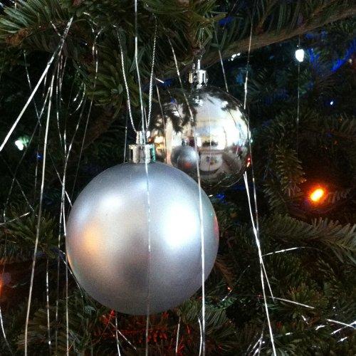 Plastic Shatterproof Ornament Balls, 20ct (Silver) -