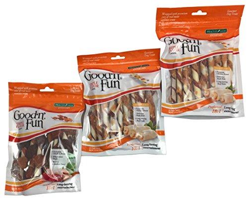 Fun Twist - Healthy Hide Good'n'Fun Triple Flavor Twists and Triple Flavor Kabobs, Bundle of 3 Items