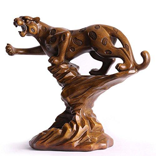 KMYX Leopard Decorative Wine Rack European Creative Resin Animal Crafts Adornos para el hogar Personalidad Muebles Botella de...