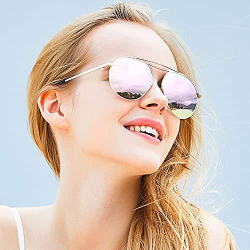 CJJC Anti de achats présentes Lunettes Femmes UV pour Filles de de Les Crapaud Soleil Vacances Lunettes Conduire de surdimensionnées Soleil polarisées Pink pour Couleur Mode Multi rR6RIw