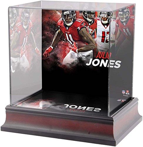 Sports Memorabilia Julio Jones Atlanta Falcons Deluxe Mini Helmet Case - Football Mini Helmet Free Standing Display Cases