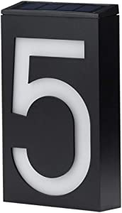 Solar House Numbers, LED Lighted/Illuminated House Number, Metal Address Plaque, Address Numbers for Houses, Address Plaque for Houses, LED Address Sign from JBD Signature (5)