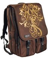 "Laurex Laptop Computer Backpack fit up to 17.3"" Screen Laptop (Brown Vine)"