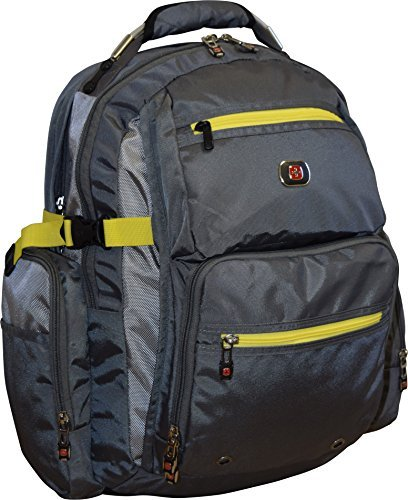"SwissGear Breaker Laptop Backpack With 16"" Laptop Pocket & 10"" Tablet Pocket-Grey"