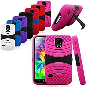 TOPQQ Lateral Support Robot Full Body Case for Samsung S5 I9600 (Assorted Colors)