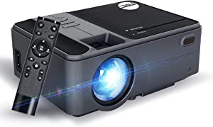 MSC A 100 Mini Projector, Full HD1080P Supported Portable Video Projector, 200Inch Screen Projector Screen, Home Theatre Compatible with HDMI, USB, AV, LED Portable Projector for Home/Outdoors