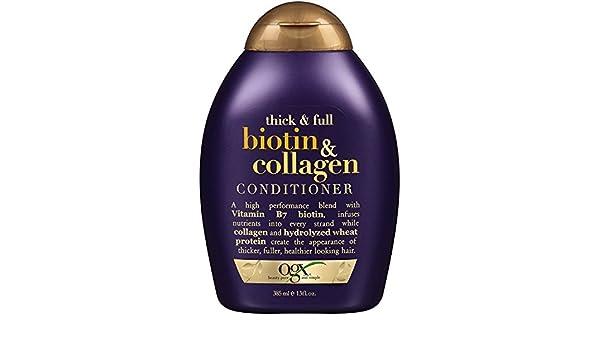 Amazon.com : Acondicionador Para La Caida Del Cabello de Biotin & Colágeno- Tratamiento Para El Cabello Dañado y Maltratado- ✓ Producto 100% Garantizado 13 ...