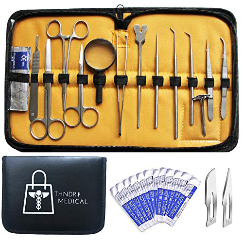 30 Pcs Dissection Kit Advanced Lab Set - Premium Quality Stainless Steel Tools for Dissecting Frogs - Best Biology - Anatomy - Botany - Students - Veterinarians and Teachers Set with Case