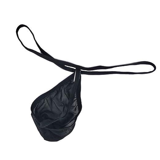 85ec282fdb3c1 GO2SEXY Men s Mesh See Through Thongs G-String T-Back Bikini Underwear  (Black