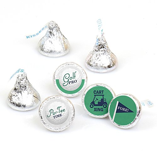 Par-Tee Time - Golf - Birthday or Retirement Party Round Candy Sticker Favors - Labels Fit Hershey's Kisses (1 Sheet of 108) -