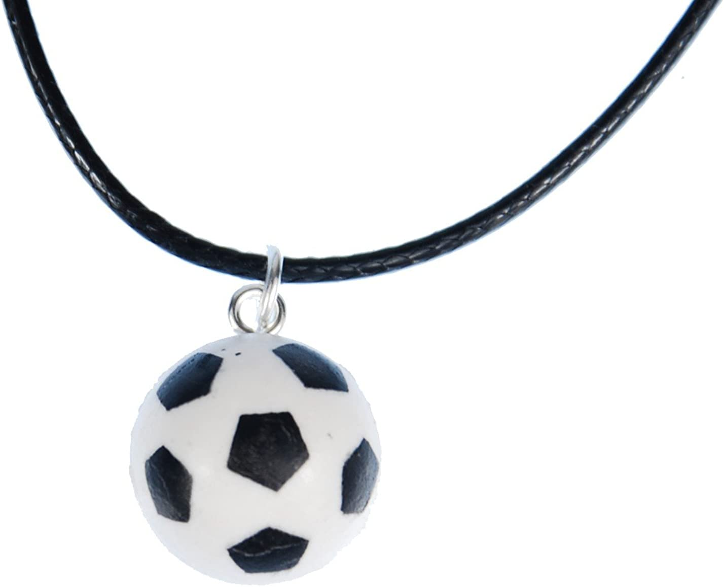 Miniblings Collar de Cadena de fútbol Pelota de Cuero Puerta EM WM ...