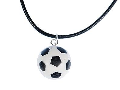 Miniblings Fussball Kette Halskette Leder Ball Em Wm Sport Sportler Tor Fussballer