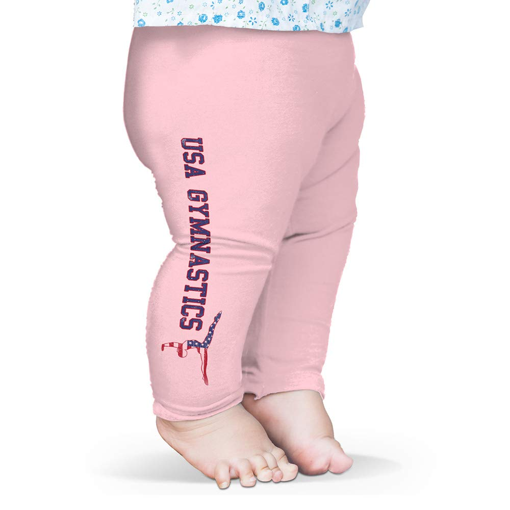 Twisted Envy Baby Pants USA Gymnastics Pink 0-3 Months by TWISTED ENVY