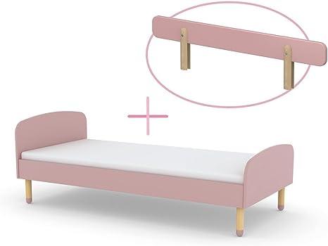 Flexa White Vordere 3//4 Absturzsicherung Rosa f/ür 190 cm Bett