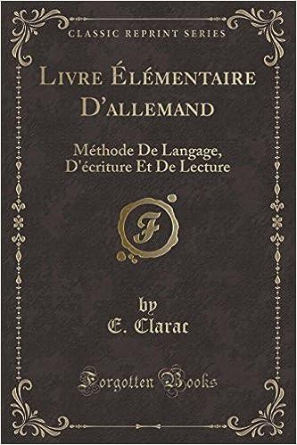 Livre Elementaire D Allemand Methode De Langage D Ecriture