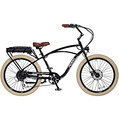 "Pedego Interceptor 26"" Classic Black with Creme Balloon Package 48V 10Ah"