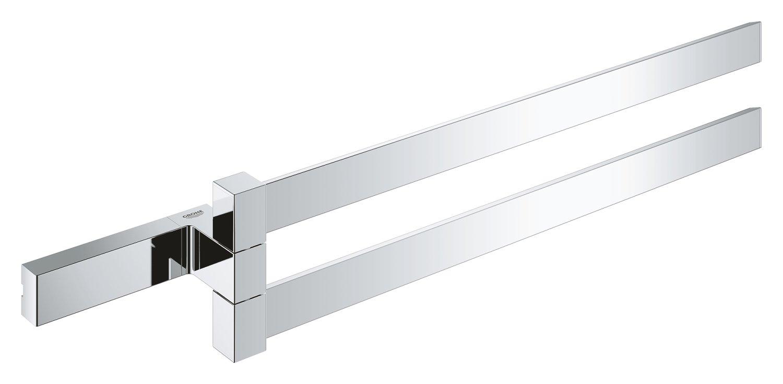 GROHE 40768000 Double barre porte serviette Selection Cube, Chrome (Import Allemagne)