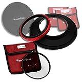 Fotodiox WndPn145-EsntlCPL-OM714 WonderPana 145 Essentials Kit, 145mm Filter Holder, Lens Cap and CPL Filter for Olympus 7-14mm F/4.0 Zuiko ED Lens, OM-4/3 (Black)