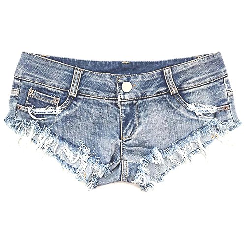 Shorts Low Jean Waist - NW Women's Low Waist Sexy Denim Short Hot Pants Sexy Mini Jeans Shorts (Large)