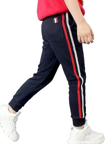 Amazon Com Littlexin Pantalones Deportivos Para Ninos De 5 A 13 Anos Clothing