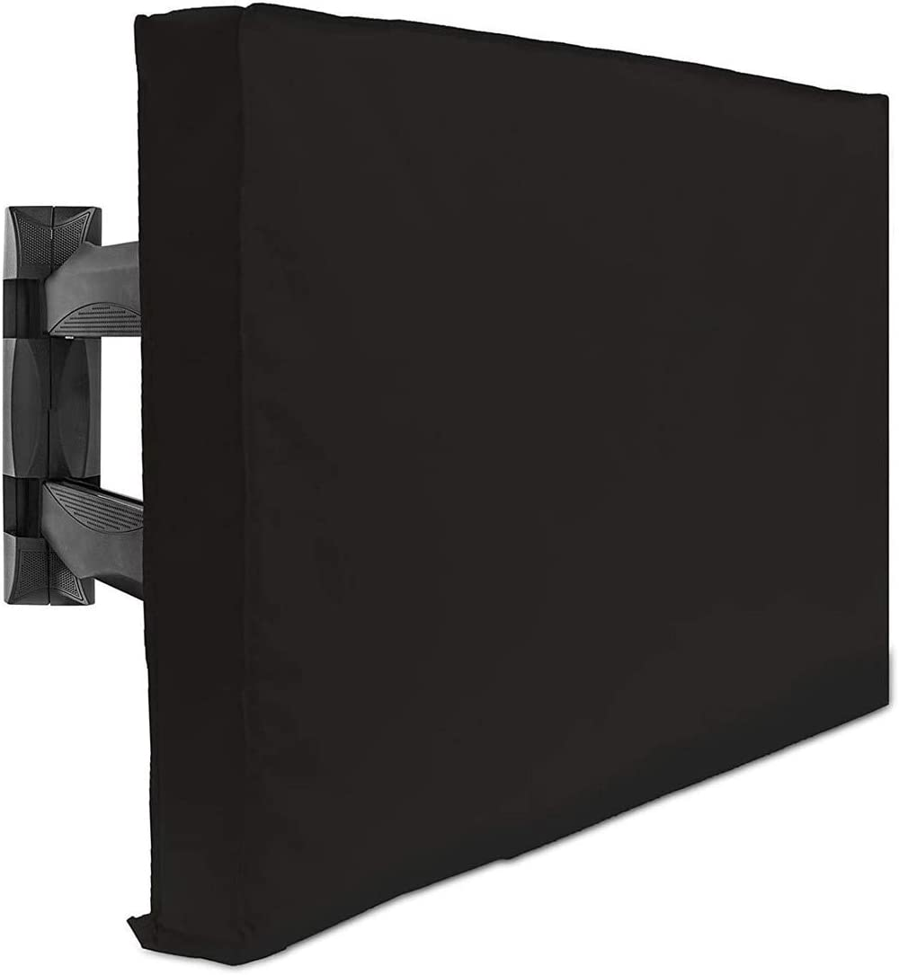 Color Negro Resistente al Polvo, pa/ño Protector de TV para Proteger su televisor de 65-70 Pulgadas Garneck Cubierta de televisi/ón Resistente a la Intemperie para Exteriores