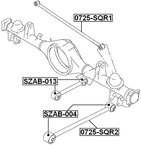 4620265D01 Rear Track Control Rod For Suzuki Febest