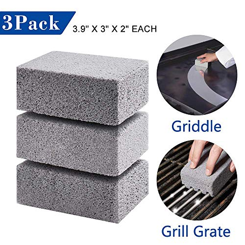 GASPRO 3Pack Griddle Grill Cleaning Brick-A Magic Stone for Safely and Quickly Cleaning Flat Top Grills or Griddles,Grills Grate and More - Easily Removes Stubborn Grime
