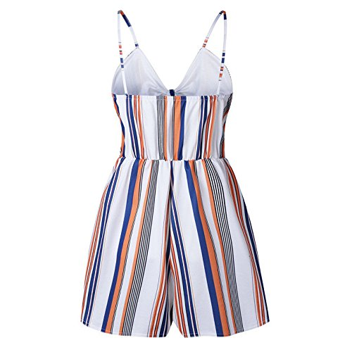 UK Mini Size 10 Size Striped Summer Womens Ladies Color Striped Holiday Off Mixed Shorts UK Shoulder Color Dress UK Jumpsuit Mixed Playsuit 10 wtOwq1ra