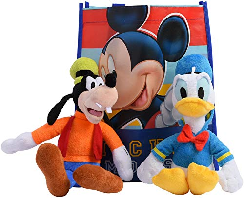 "Disney 11"" Plush Mickey Mouse Friends 2-Pack in Gift Bag (Donald Duck & Goofy)"