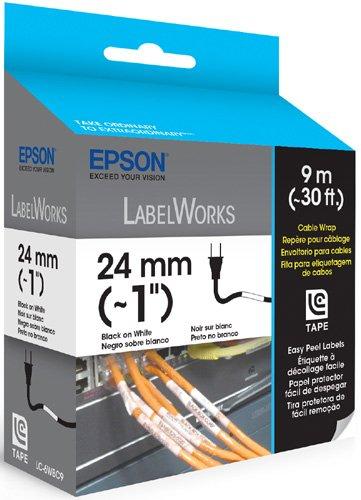 Epson LC-6WBC9 Epson Cable Wrap Easy Peel Label Black on White Ink