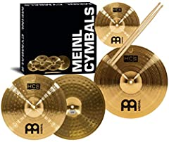 MEINL HCS Cymbals are an outstanding starting point for aspiring drummers to begin bringing cymbals into their drum set ups. The HCS series from Meinl Cymbals is designed to offer cymbal types and sizes normally found in professional lines to...