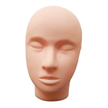 Buy Non Brand Professional Salon School Mount Hole Mannequin Head Model Doll For Eyelash Extensions Body Art Painting Massage Practice Training Online At Low Prices In India Amazon In