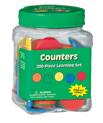 (Eureka Educational Learn to Count Tub of Counters for Classrooms, 200 pcs)