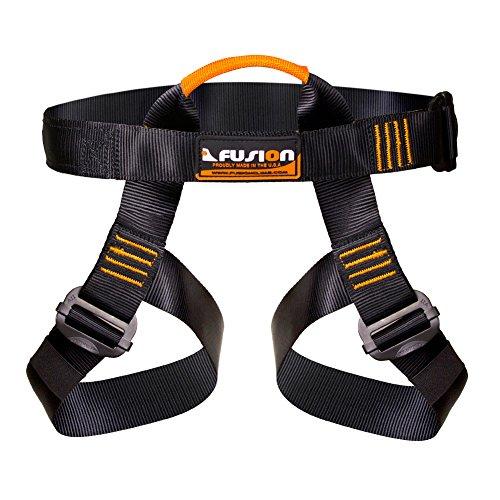 Fusion Climb Centaur Half Body Harness Black M XL for Climbing Gym & Rope Course