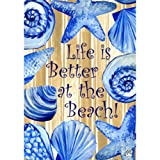 """ Life Is Better At the Beach "" – Double Sided Standard Size Decorative Flag 28 X 40 Inches"