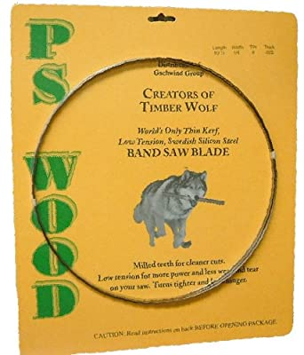 """Timber Wolf Bandsaw Blade 142"""" x 1"""" x 3 TPI x .035 Thickness from PS Wood"""