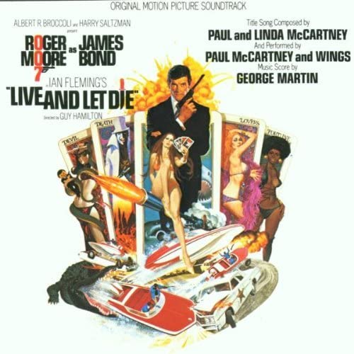 LIVE AND LET DIE- vinyl lp. ORIGINAL MOTION PICTURE SOUNDTRACK - ROGER  MOORE AS JAMES BOND.LIVE AND LET DIE, JUST A CLOSER WALK WITH THEE, NEW  SECOND LING, BOND MEETS SOLITAIRE, AND