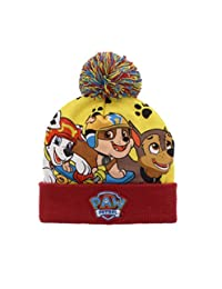 PAW Patrol Boys Pom Pom Hat Size 4-6X (Red)