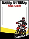 Personalized Dirt Bike Birthday Photo Booth Prop - sizes 36x24, 48x36; Personalized Motorcycle, Motor Cross, Motor Bike, Race, Boy birthday Home Decorations, Handmade Party Supply Photo Booth Frame