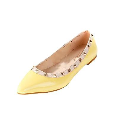 LEIT YFF Damen Schuhe Ballerinas Frauen Flache Schuhe Casual, Wein Rot, 7,5