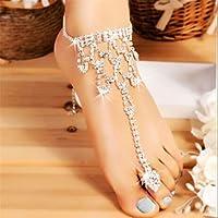 OrliverHL Women Lady Anklet Bracelet Beach Foot Jewelry