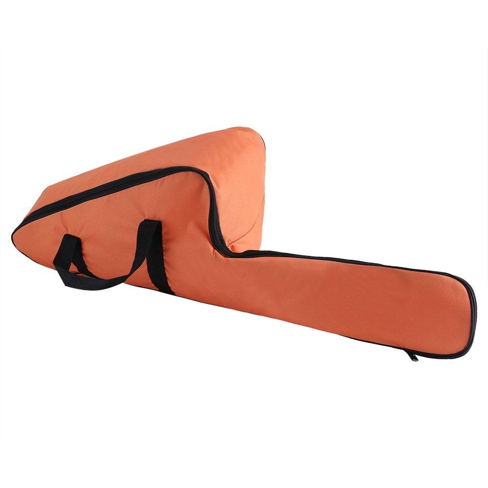 Bolsa de transporte de la motosierra Bolsa de tela naranja portátil de Oxford Bolsas de almacenamiento de protección Titular El gran ayudante para hombres Leñador de la carpintería Zerodis