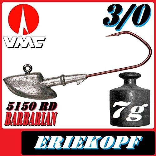 VMC Jigkopfhaken Jigkopf Eriekopf 4//0 18g Jighaken VMC Barbarian 5150 RD 5St/ück im Set
