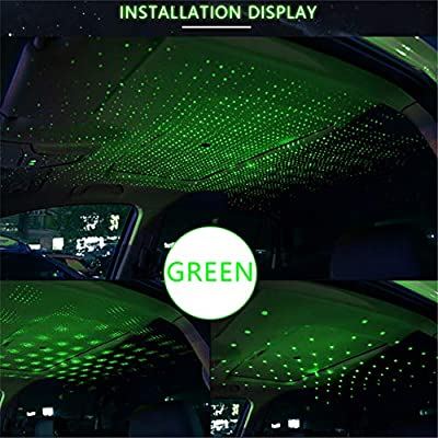 USB Car Roof Atmosphere Star Sky Lamp Interior Convenience Bulbs Dome Lights for All cars: such as bmw audi, benz, ford, honda, mazda, Nissan, toyota, Lincoln, jeep. (green): Automotive
