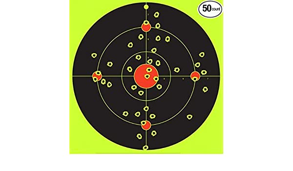 10x9pcs 3 inch 7.5cm Adhesive Reactive Shooting Splatter Paper Target Stickers