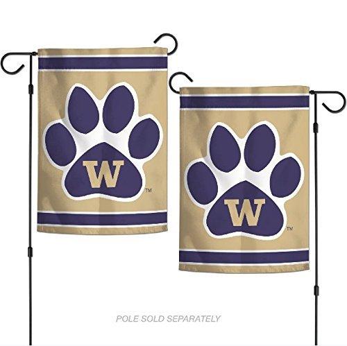 WinCraft NCAA Washington Huskies 12.5 x 18 Inch 2-Sided Garden Flag Logo
