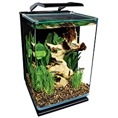 The Marineland 5 Gallon Portrait Kit is a five gallon curved glass aquarium. The kit includes Marineland's 3-stage hidden filtration with a Rite-Size Z Cartridge, Marineland Bio-Foam, and an adjustable flow filter pump. The bright white and b...