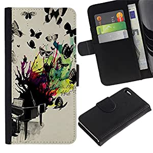 A-type Arte & diseño plástico duro Fundas Cover Cubre Hard Case Cover para Apple (4.7 inches!!!) iPhone 6 / 6S (Butterflies Colorful Painting)