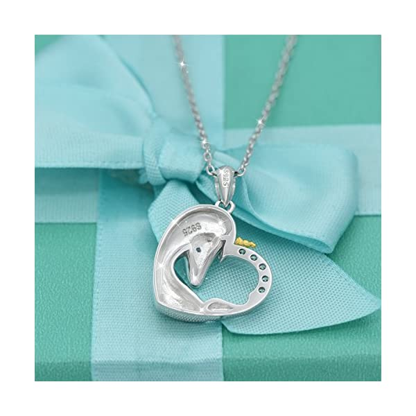 ACJNA 925 Sterling Silver Unicorn Pendant Necklace Rings Gifts for Girls Women 5